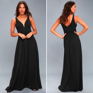 Lulus Leading Role Black Maxi Dress Size Medium